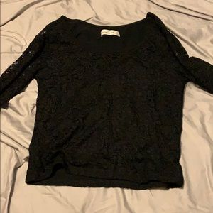Black Lace Croptop